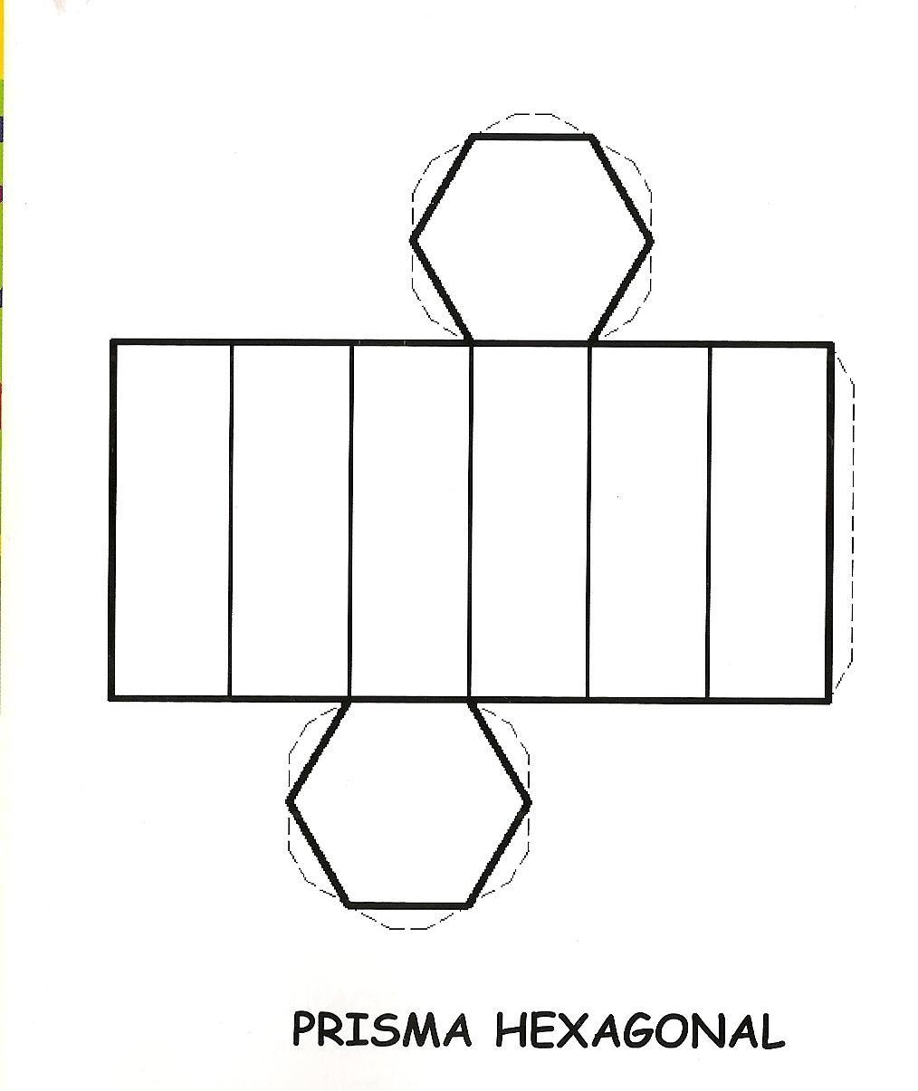 Prisma hexagonal para recortar y armar imagui for Sillas para armar y recortar