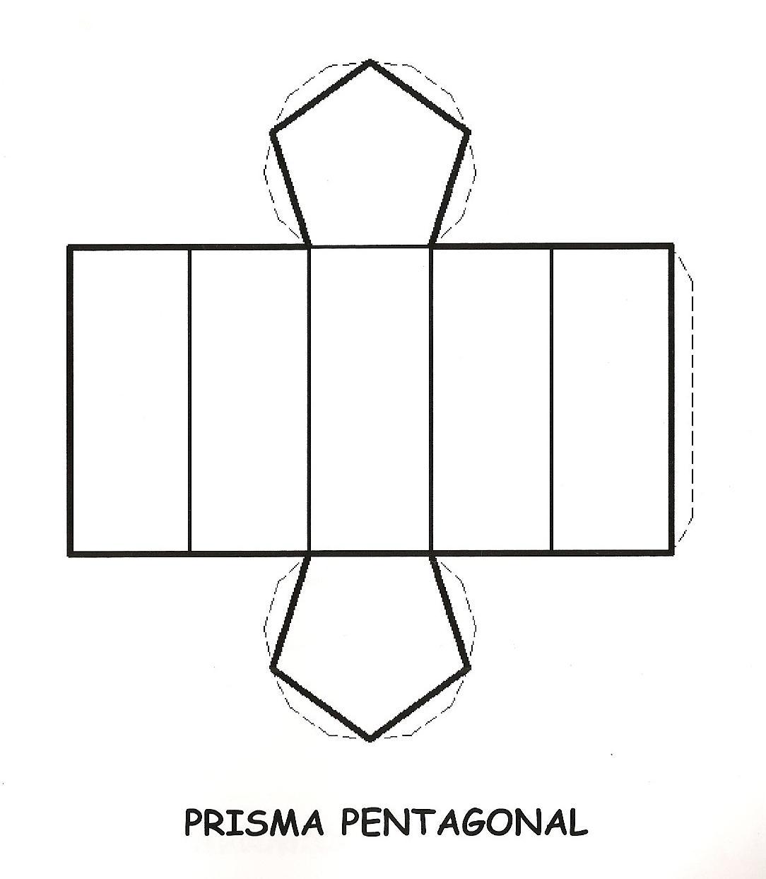 prisma hexagonal para recortar y armar imagui
