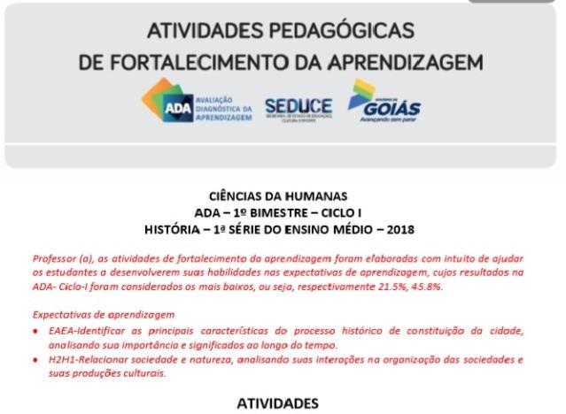 ADA - HUMANAS - FORTALECIMENTO DA APRENDIZAGEM